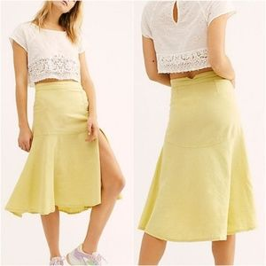 Free People Poppy Flounced Midi Skirt. Size: 4
